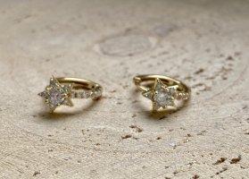 Sternchen creolen Silber 925 vergoldet