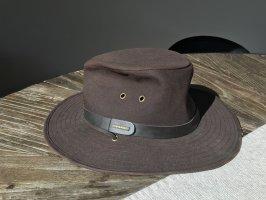 STETSON Safari Hat dark brown-brown cotton