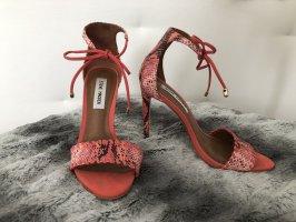 Steve Madden sandaletten schlangenoptik orange schwarz rot melba