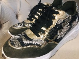 Steve Madden Sneakers Damen Schuhe mit Crystals 40 Neu Olive Camouflage