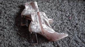 Asos Zapatos de tacón con barra en T rosa