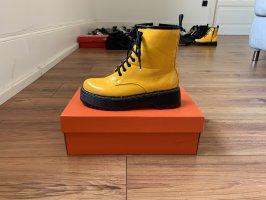 Aanrijg laarzen geel