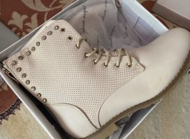 Super Mode Lace-up Boots cream