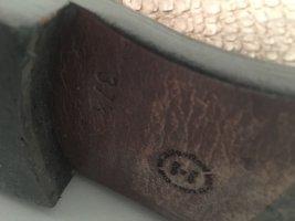 Stiefel aus Leder in Schlangenoptik 37,5