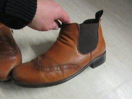 Unb Bottine d'hiver marron clair-brun cuir