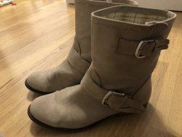 Krótkie buty kremowy