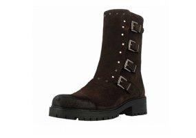 Stiefel/ Biker-Boots anthrazit-grau, Wildleder, Gr. 40, wie neu!