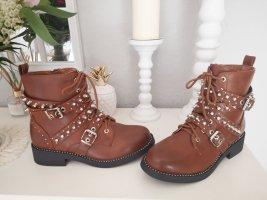Ankle Boots bronze-colored-cognac-coloured