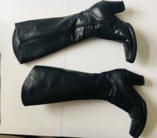 Stiefel, Boots, Lederstiefel, Western-Style, schwarz