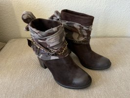 Slouch Booties brown-dark brown leather