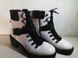 Deichmann Combat Boots white-black