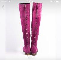 Kniehoge laarzen violet Leer