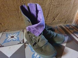 Blowfish Short Boots olive green-lilac mixture fibre