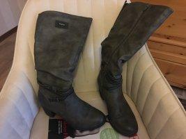 Bottes à l'écuyère argenté-gris faux cuir