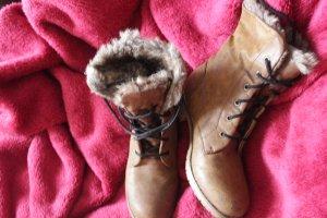 Mode Queen Aanrijg laarzen lichtbruin