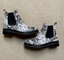Halfhoge laarzen zwart-wit