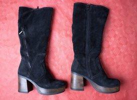 s.Oliver Platform Boots black-bronze-colored