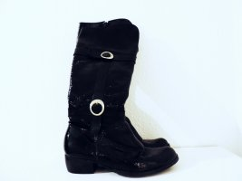 Jackboots black-silver-colored