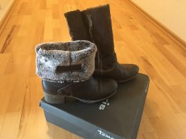 Tamaris Fur Boots dark brown