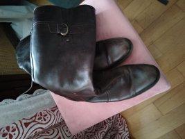 ara Wide Calf Boots dark brown-black brown