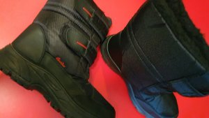 cortina Desert Boots black-red