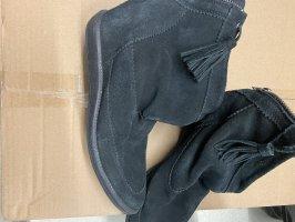 Stiefelette 39 schwarz Leder Schuhe Stiefel