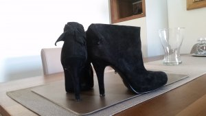 3 Suisses Zipper Booties black leather