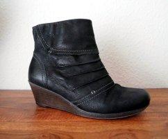 Stiefelette Leder schwarz