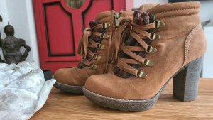 Marco Tozzi Zipper Booties light brown-brown
