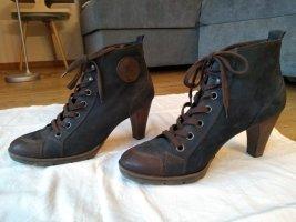 Paul Green München Patucos con cordones gris antracita-marrón oscuro