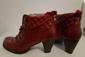 Spieth & Wensky Winter Booties dark red