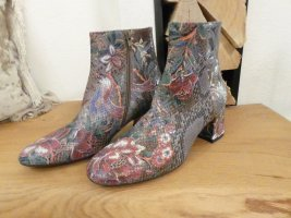 AGL Zipper Booties multicolored leather