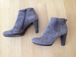 Alberto Fermani Zipper Booties dark grey suede