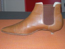 Unützer Slip-on Booties cognac-coloured leather