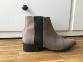 H&M Slip-on Booties light brown-black imitation leather