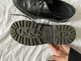 H&M Divided Lace-up Booties black