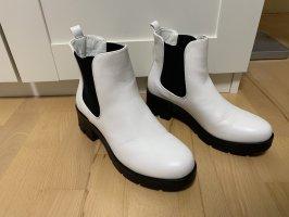 Anna Field Wciągane buty za kostkę biały-czarny