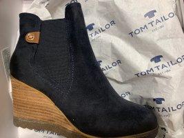 Tom Tailor Laarsjes met sleehak zwart
