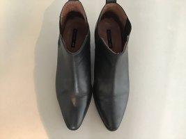 H&M Bottines à enfiler noir cuir
