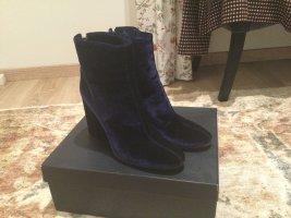 Chantal Thomass Zipper Booties dark blue