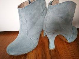 Tamaris Bottine ajourée bleu pâle