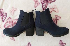 Stiefeletten blau schwarz *Neu*
