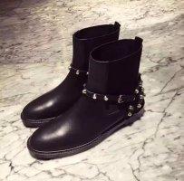 Stiefeletten Boots mit Nieten schwarz Gr 40 neu