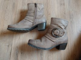 Marco Tozzi Zipper Booties bronze-colored