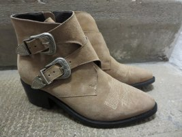 Pavement Western Booties camel leather