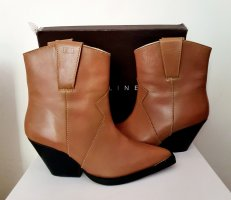 Carin Wester Western Booties multicolored leather