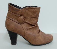 Stiefeletten Gr 36 braun Cognac boots Winterstiefeletten