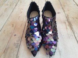Stiefeletten - High Heels mit Pailetten - wie neu - Party