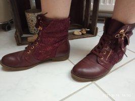 Low boot bordeau