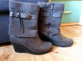Wedge Booties grey